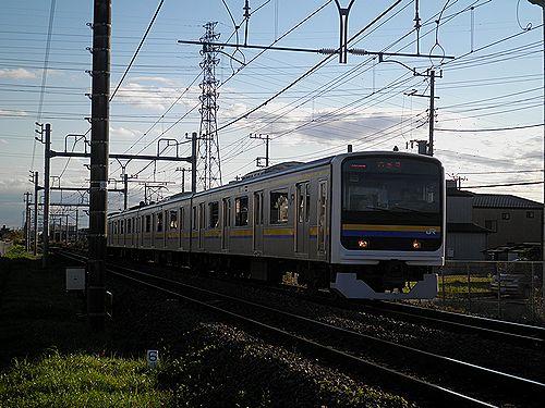 内房線普通列車209系・千マリC433編成(蘇我~浜野間・2012年11月18日)