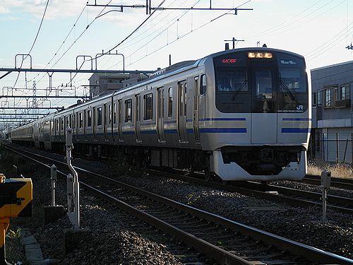 内房線快速列車E217系・横クラY-18編成(蘇我~浜野間・2012年11月18日)