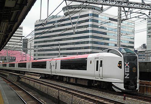 横クラE259系Ne008編成「マリンエクスプレス踊り子79号」(有楽町駅・2012年12月1日)