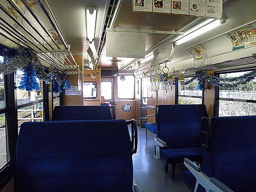 いすみ鉄道いすみ300形車内(2012年12月8日)