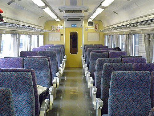 中央本線臨時快速9892M・クハ183-1012[宮オオ・OM102編成]車内(2012年12月29日)