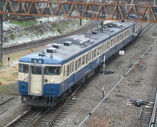 八トタ115系M1編成(2012年12月29日・大月駅)1