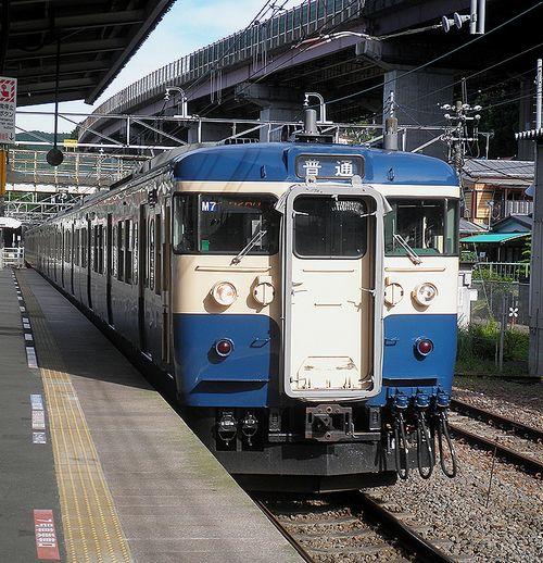 八トタ115系M7編成(2012年7月16日・相模湖駅)