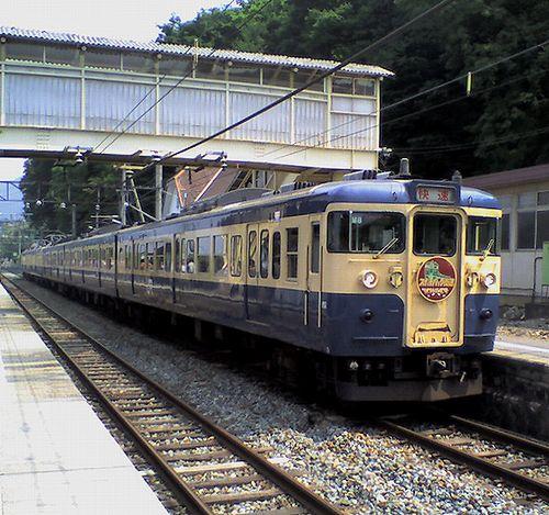 八トタ115系M8編成(2008年7月5日・姨捨駅)