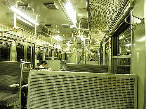 クハ115-374(八トタM7編成)車内(2011年7月27日・中央本線354M)