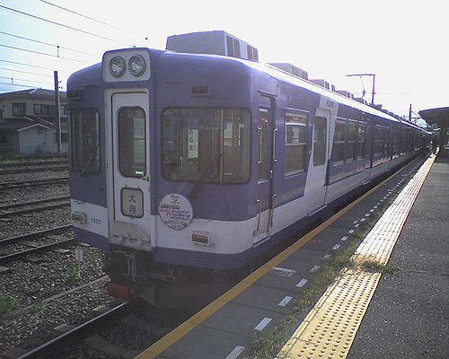 富士急行1200形・1207編成(2010年8月29日・河口湖駅)