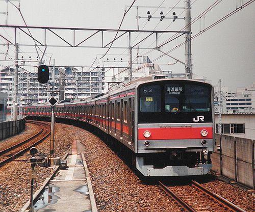 千ケヨ205系21編成(2004年7月・潮見駅)