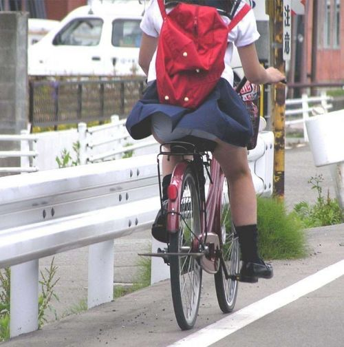 【三次画像あり】 ミニスカの女子高生が自転車に乗ってるとドキっとするよね! 53枚 part.13 No.4