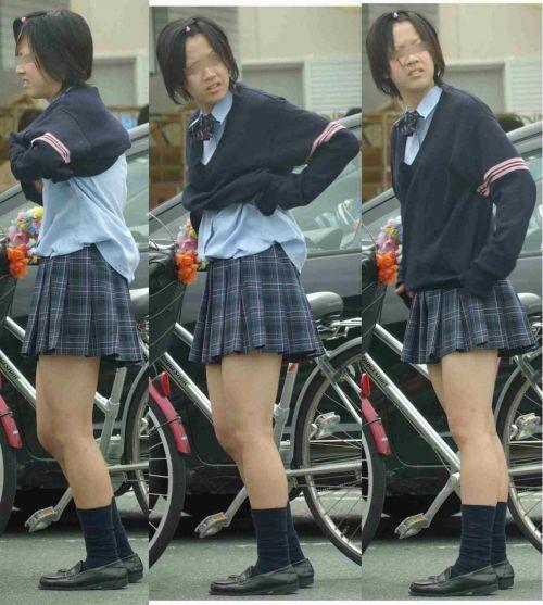 【三次画像あり】 ミニスカの女子高生が自転車に乗ってるとドキっとするよね! 53枚 part.13 No.3
