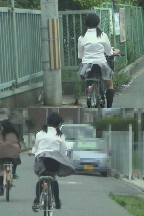 【三次画像あり】 ミニスカの女子高生が自転車に乗ってるとドキっとするよね! 53枚 part.13 No.6