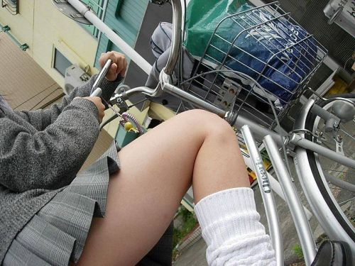 【三次画像あり】 ミニスカの女子高生が自転車に乗ってるとドキっとするよね! 53枚 part.13 No.10
