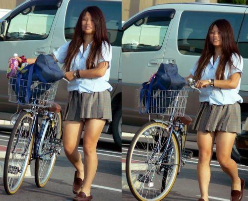 【三次画像あり】 ミニスカの女子高生が自転車に乗ってるとドキっとするよね! 53枚 part.13 No.11