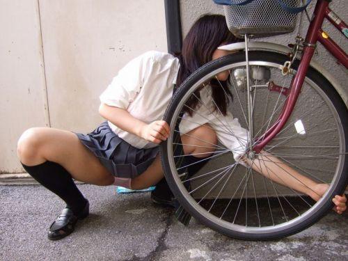 【三次画像あり】 ミニスカの女子高生が自転車に乗ってるとドキっとするよね! 53枚 part.13 No.15
