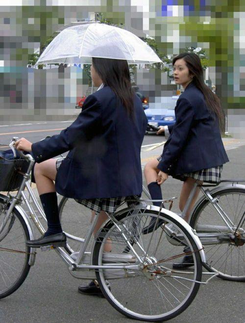 【三次画像あり】 ミニスカの女子高生が自転車に乗ってるとドキっとするよね! 53枚 part.13 No.20