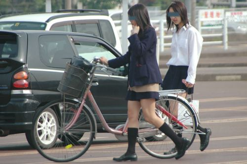 【三次画像あり】 ミニスカの女子高生が自転車に乗ってるとドキっとするよね! 53枚 part.13 No.27