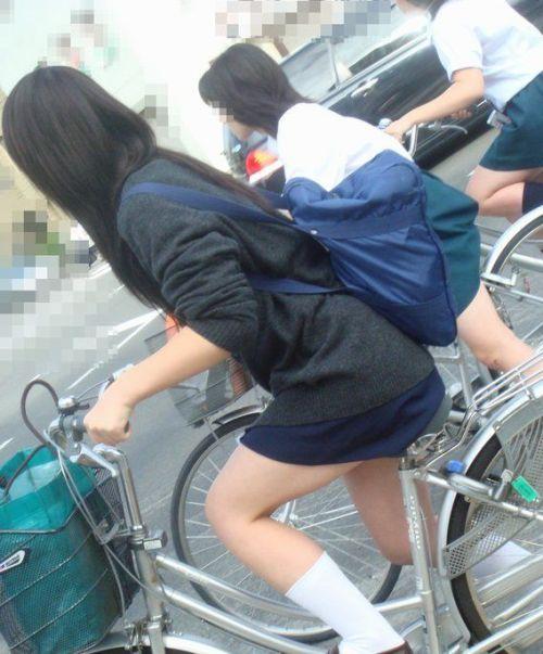 【三次画像あり】 ミニスカの女子高生が自転車に乗ってるとドキっとするよね! 53枚 part.13 No.28