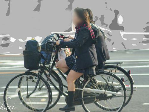 【三次画像あり】 ミニスカの女子高生が自転車に乗ってるとドキっとするよね! 53枚 part.13 No.34