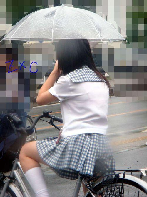【三次画像あり】 ミニスカの女子高生が自転車に乗ってるとドキっとするよね! 53枚 part.13 No.38