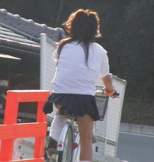 【三次画像あり】 ミニスカの女子高生が自転車に乗ってるとドキっとするよね! 53枚 part.13 No.40