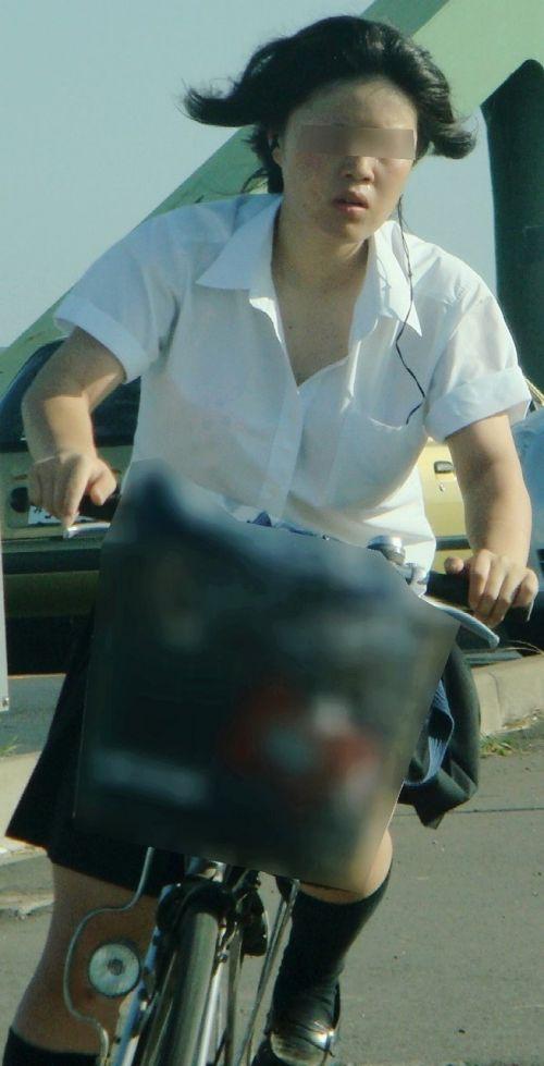 【三次画像あり】 ミニスカの女子高生が自転車に乗ってるとドキっとするよね! 53枚 part.13 No.42