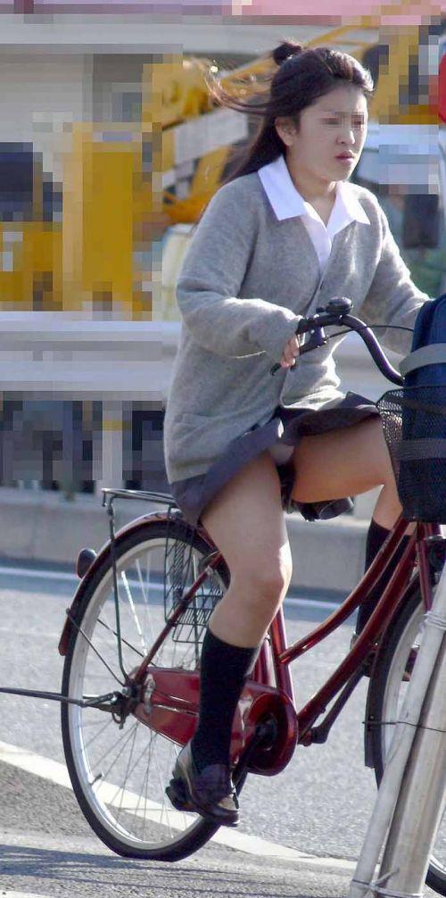 【三次画像あり】 JKがミニスカで自転車に乗ってる姿を後ろから眺めるの幸せすぎ♪ 52枚 part.12 No.6