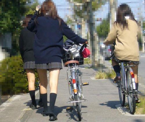 【三次画像あり】 JKがミニスカで自転車に乗ってる姿を後ろから眺めるの幸せすぎ♪ 52枚 part.12 No.9