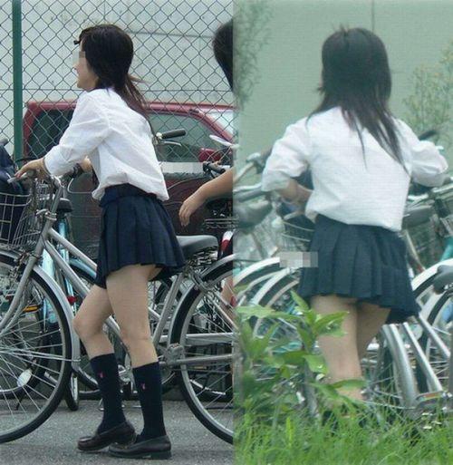 【三次画像あり】 JKがミニスカで自転車に乗ってる姿を後ろから眺めるの幸せすぎ♪ 52枚 part.12 No.10