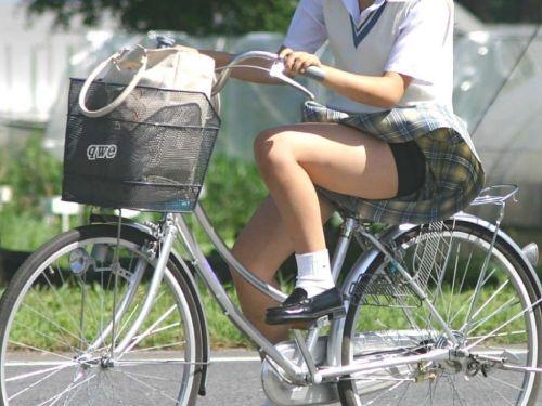 【三次画像あり】 JKがミニスカで自転車に乗ってる姿を後ろから眺めるの幸せすぎ♪ 52枚 part.12 No.12