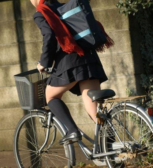 【三次画像あり】 JKがミニスカで自転車に乗ってる姿を後ろから眺めるの幸せすぎ♪ 52枚 part.12 No.14