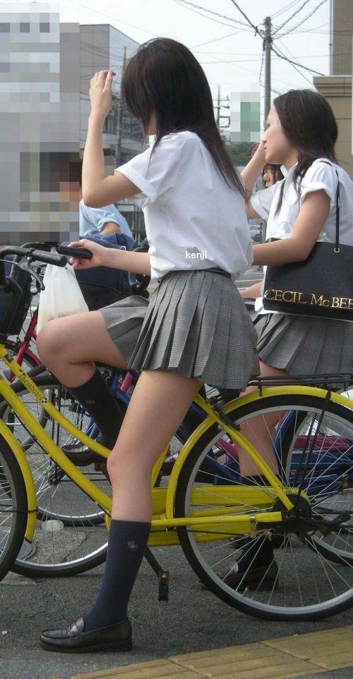【三次画像あり】 JKがミニスカで自転車に乗ってる姿を後ろから眺めるの幸せすぎ♪ 52枚 part.12 No.23