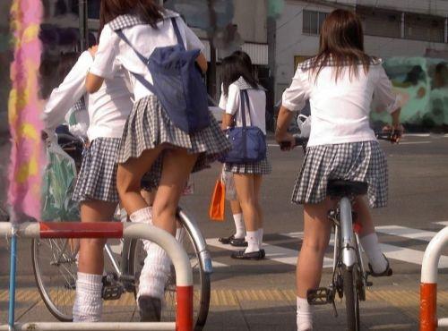 【三次画像あり】 JKがミニスカで自転車に乗ってる姿を後ろから眺めるの幸せすぎ♪ 52枚 part.12 No.26
