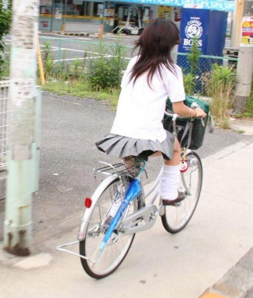 【三次画像あり】 JKがミニスカで自転車に乗ってる姿を後ろから眺めるの幸せすぎ♪ 52枚 part.12 No.27