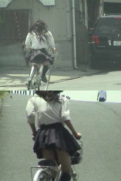 【三次画像あり】 JKがミニスカで自転車に乗ってる姿を後ろから眺めるの幸せすぎ♪ 52枚 part.12 No.29