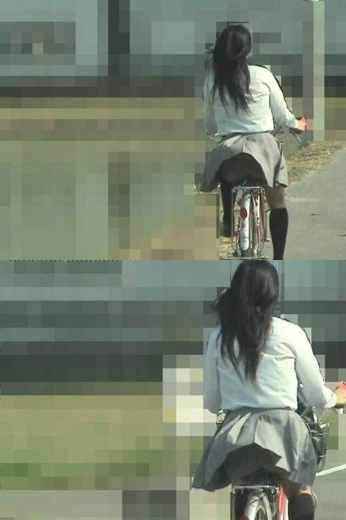 【三次画像あり】 JKがミニスカで自転車に乗ってる姿を後ろから眺めるの幸せすぎ♪ 52枚 part.12 No.31