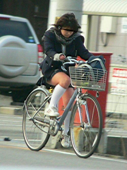 【三次画像あり】 JKがミニスカで自転車に乗ってる姿を後ろから眺めるの幸せすぎ♪ 52枚 part.12 No.34