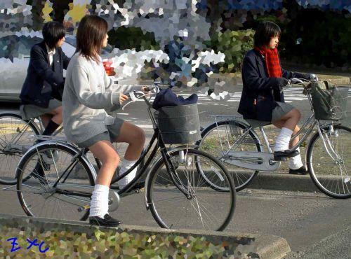 【三次画像あり】 JKがミニスカで自転車に乗ってる姿を後ろから眺めるの幸せすぎ♪ 52枚 part.12 No.36