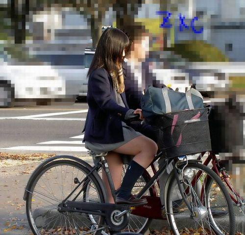 【三次画像あり】 JKがミニスカで自転車に乗ってる姿を後ろから眺めるの幸せすぎ♪ 52枚 part.12 No.38