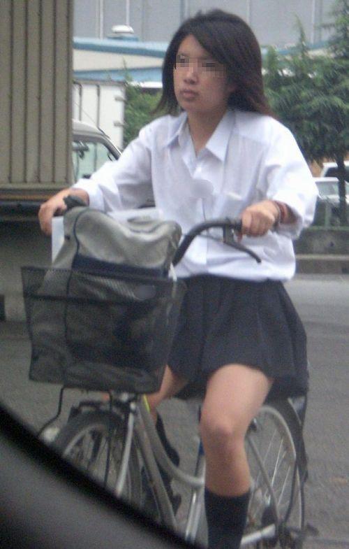 【三次画像あり】 JKがミニスカで自転車に乗ってる姿を後ろから眺めるの幸せすぎ♪ 52枚 part.12 No.43
