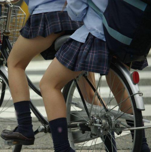【三次画像あり】 JKがミニスカで自転車に乗ってる姿を後ろから眺めるの幸せすぎ♪ 52枚 part.12 No.47