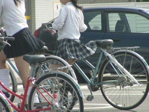 【三次画像あり】 JKがミニスカで自転車に乗ってる姿を後ろから眺めるの幸せすぎ♪ 52枚 part.12 No.48