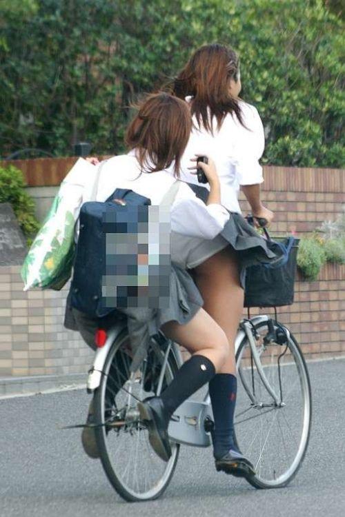 【三次画像あり】 JKがミニスカで自転車に乗ってる姿を後ろから眺めるの幸せすぎ♪ 52枚 part.12 No.49