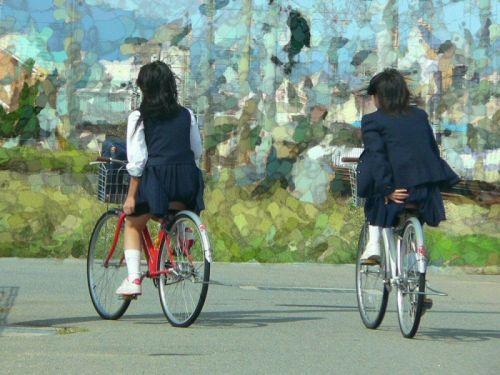 【三次画像あり】 JKがミニスカで自転車に乗ってる姿を後ろから眺めるの幸せすぎ♪ 52枚 part.12 No.52