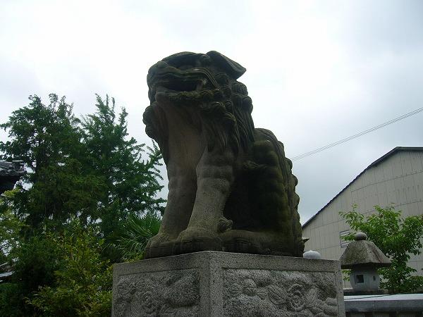 履脱八幡神社の狛犬阿