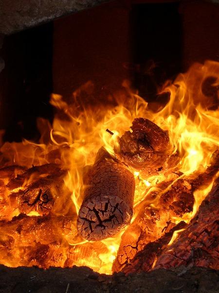 だるま窯の火縦