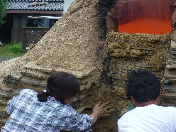 粘土を塗る2