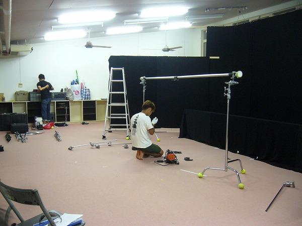 浦島人形撮影準備1