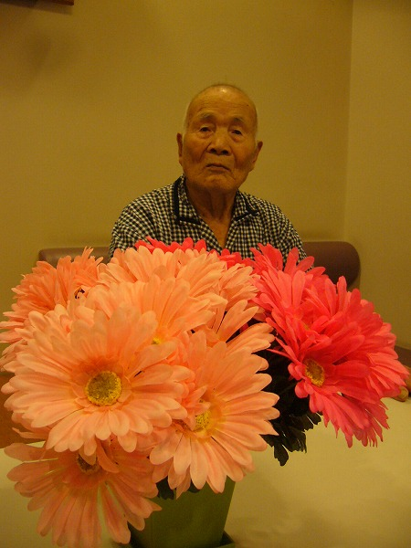 花とお爺ちゃん