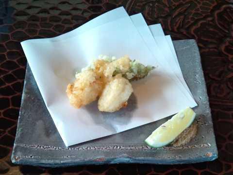 山芋と海老の揚げ物