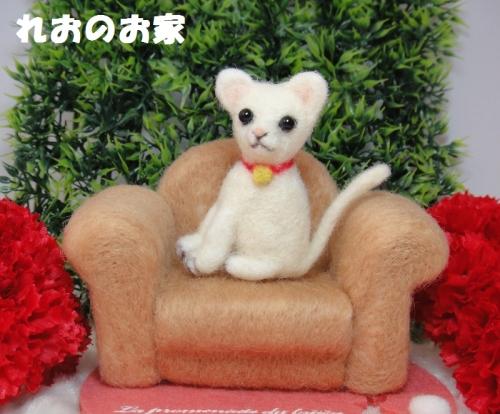 白猫ソファ1