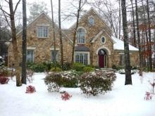 アラバマ生活雑記帳-雪景色・我が家
